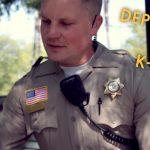 Deputy Pedersen and K9 Smokey